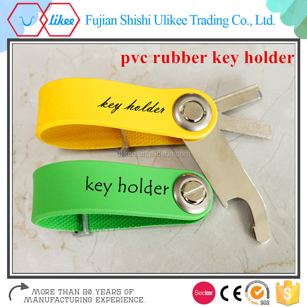 New material OEM logo colorful soft pvc rubber key organized smart holder