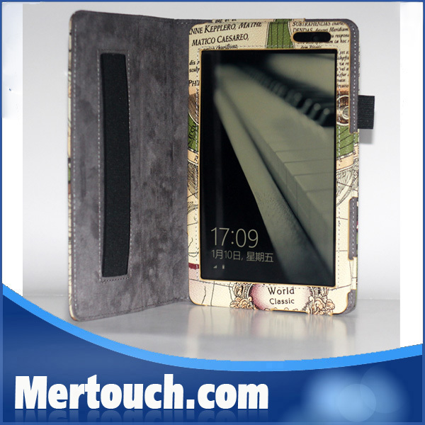 New arrival hand holder strap leather map design For Dell Venue 8 Pro case cover