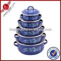 China Pink Porcelain Enamel Cookware Set