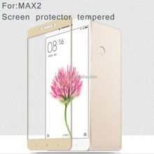2.5D 9H Silk Printing color Glass Protective Flim Tempered Glass screen protector for xiaomi Max 2