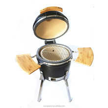 2017 new design mini portable charcoal bbq ceramic kamado grill stove smokers