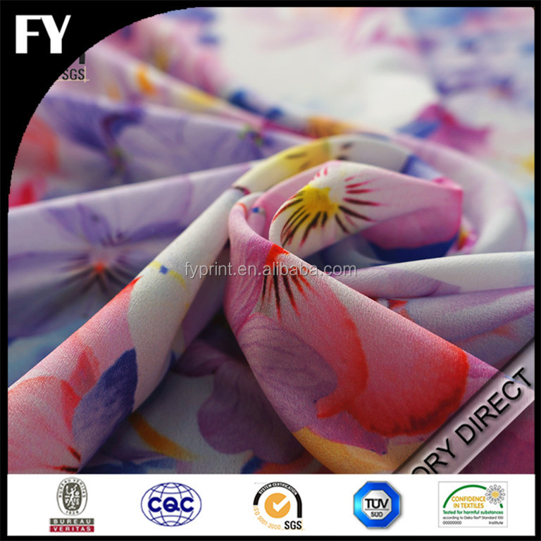 Factory custom design high quality digital printing polyester nylon fabric