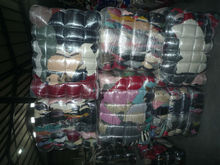 Used clothing in bales