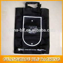 black good quality shopping eco non woven bag with bottom