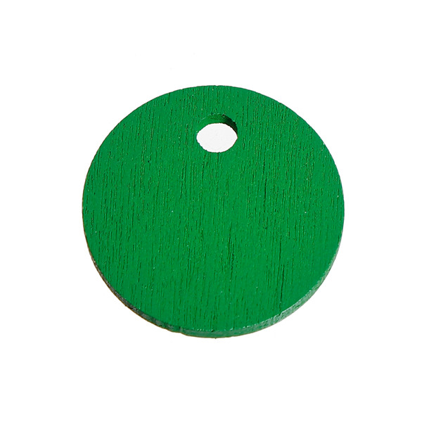 Three-ply Board Charms Round Green Custom Wood Pendants