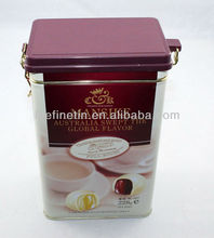 high quality airtight coffee tin can with plastic lid