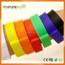 Cheap Waterproof Silicone usb bracelet corporate events wristband usb flash drives bulk 2gb