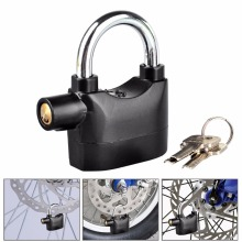 Siren alarm padlock 110 db lock High safe alarm siren lock aluminium alloy 110db siren alarmed door lock