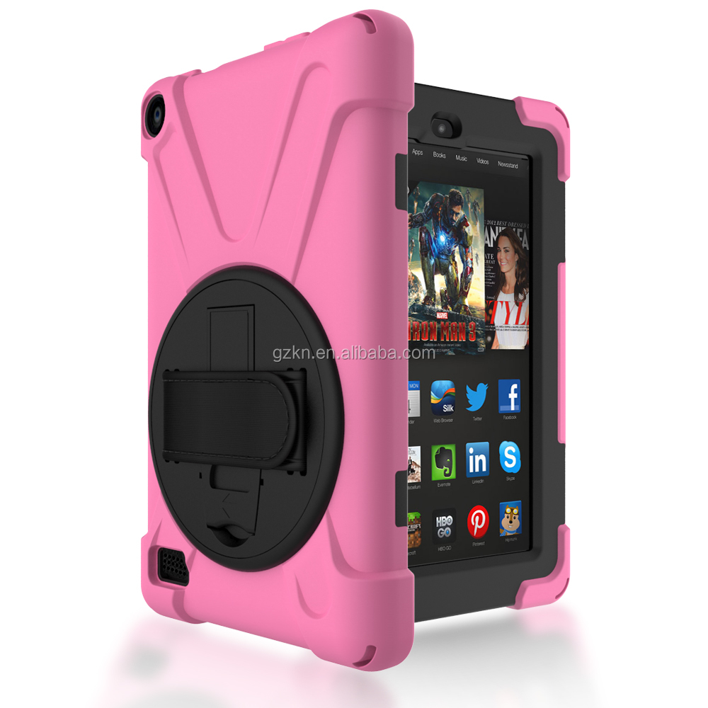 Brandnew shockproof housing for Kindle fire HDX 7 with stand and shoulder strap