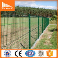 pvc coated welded wire mesh fence/black welded wire fence mesh panel/4mm welded mesh galvanized fencing