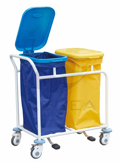 AG-SS019B stainless steel waterproof washable movable hospital laundry trolley