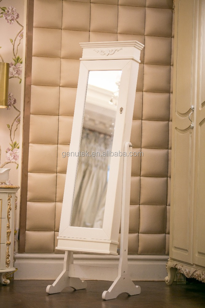 white jewelry armoire in inventory