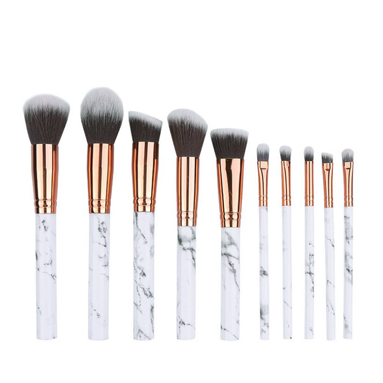 Instagram Pop Marble 10pcs Professional Makeup Beauty Brush Set Cosmetic Tool