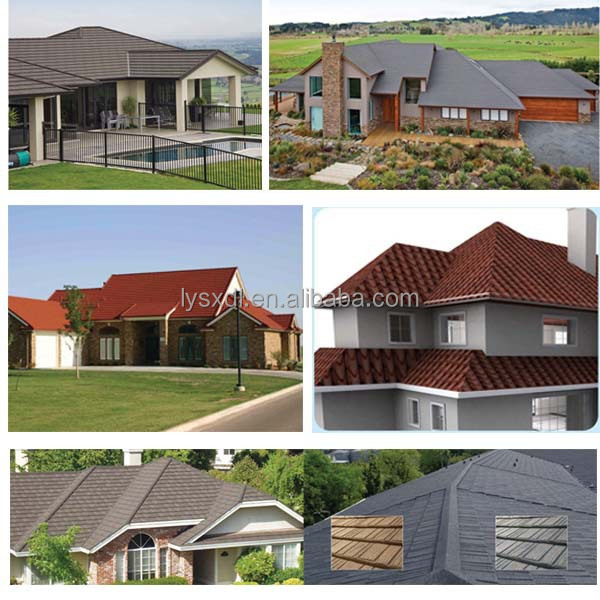 2015 HOT SALE stone coated roof tile, high quality Recycled plastic roof tiles asphalt shingles