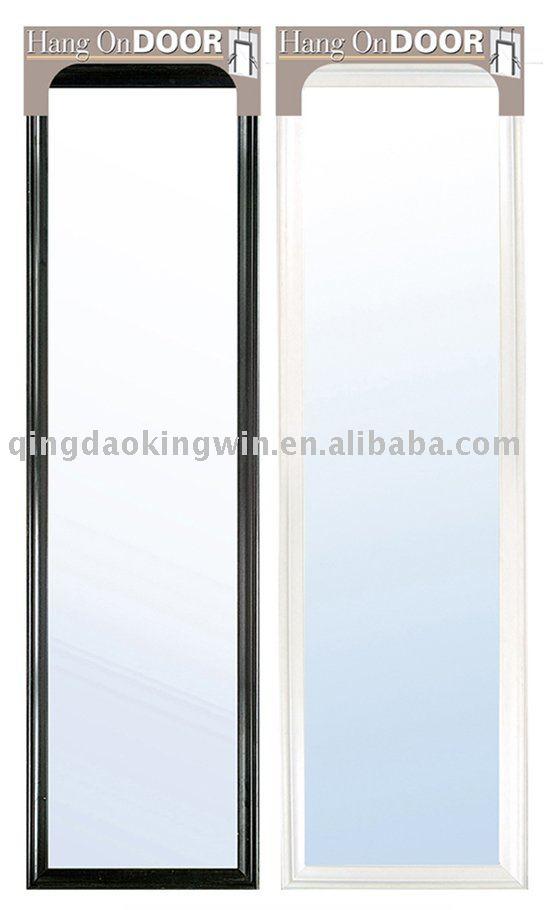 h ngen ber der t r spiegel in wei und schwarz spiegel produkt id 288397304. Black Bedroom Furniture Sets. Home Design Ideas