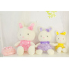 custom bunny plush toy cute little bunny pink dress rabbit doll