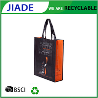 Waterproof pictures printing non woven shopping bag, folding pp non woven shopping bag