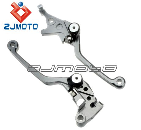 Aluminum AlloyMotorcycle Parts 4 Finger Long CNC Adjustable Brake Clutch Lever For KAWASAKI