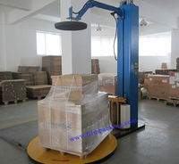 top plate stretch film wrapping machine use for wooden case packing