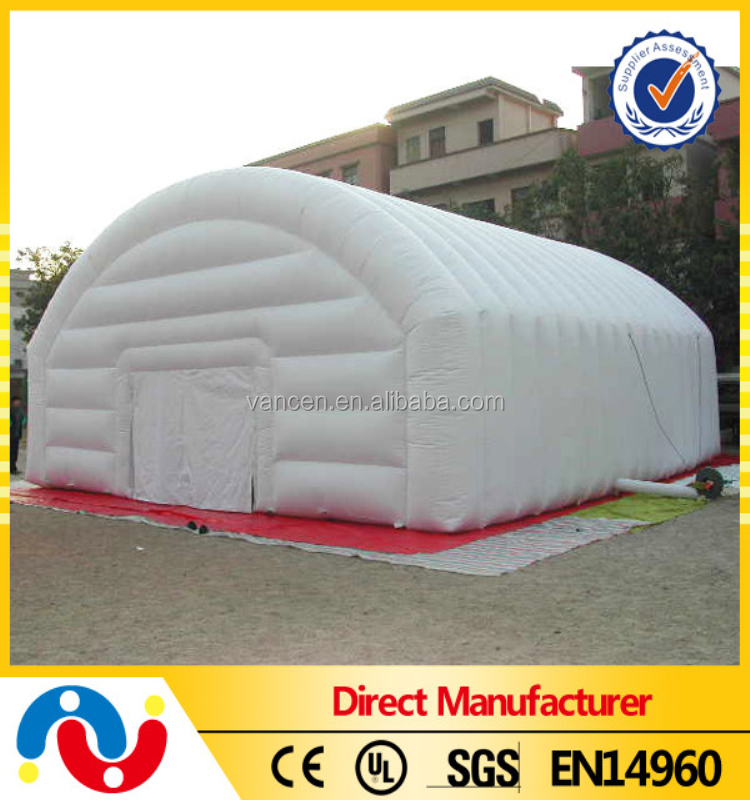 Outdoor big PVC tarpauliin family 8-10 persons inflatable camping tent for sale
