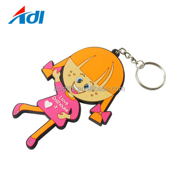 Custom 3D Soft Plastic Rubber PVC snake shape cartoon Keychain with keyring
