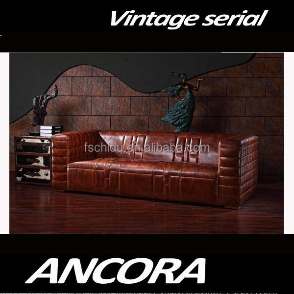 Aviator Italy leather sofa A131