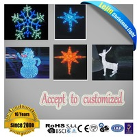 New item blue christmas decoration led light reindeer With high quality wedding decoration