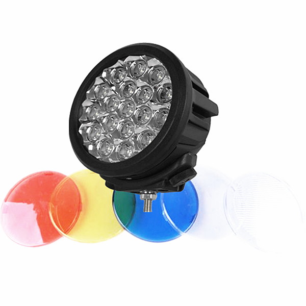 90W auto car led work light 7inch round 90w 4x4 cars headlight LED Off Road Working Driving Lamp for Boat Farm ATV SUV TRUCK
