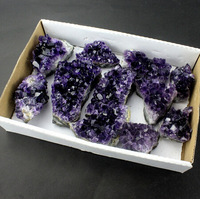 Wholesale Grape Raw Amethyst geode,natural quartz crystal Amethyst Geode Cluster