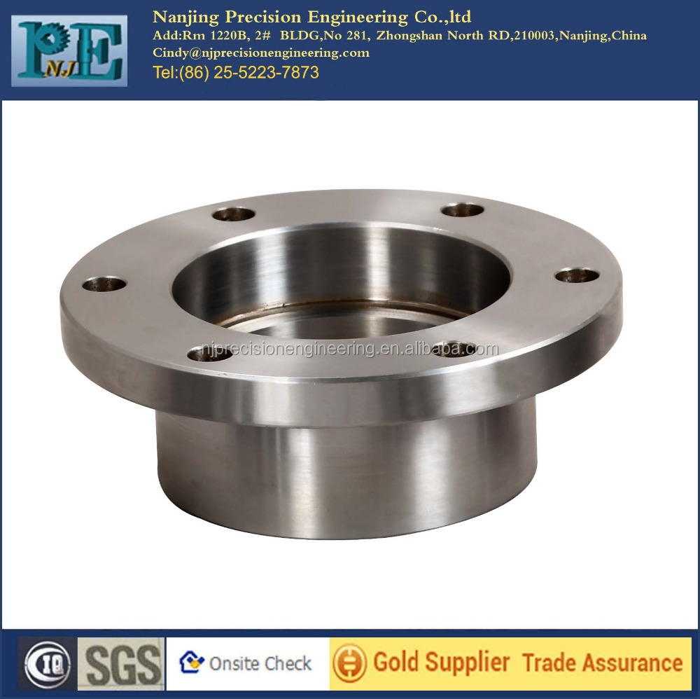 High quality cnc machining parts stainless steel welding neck flange
