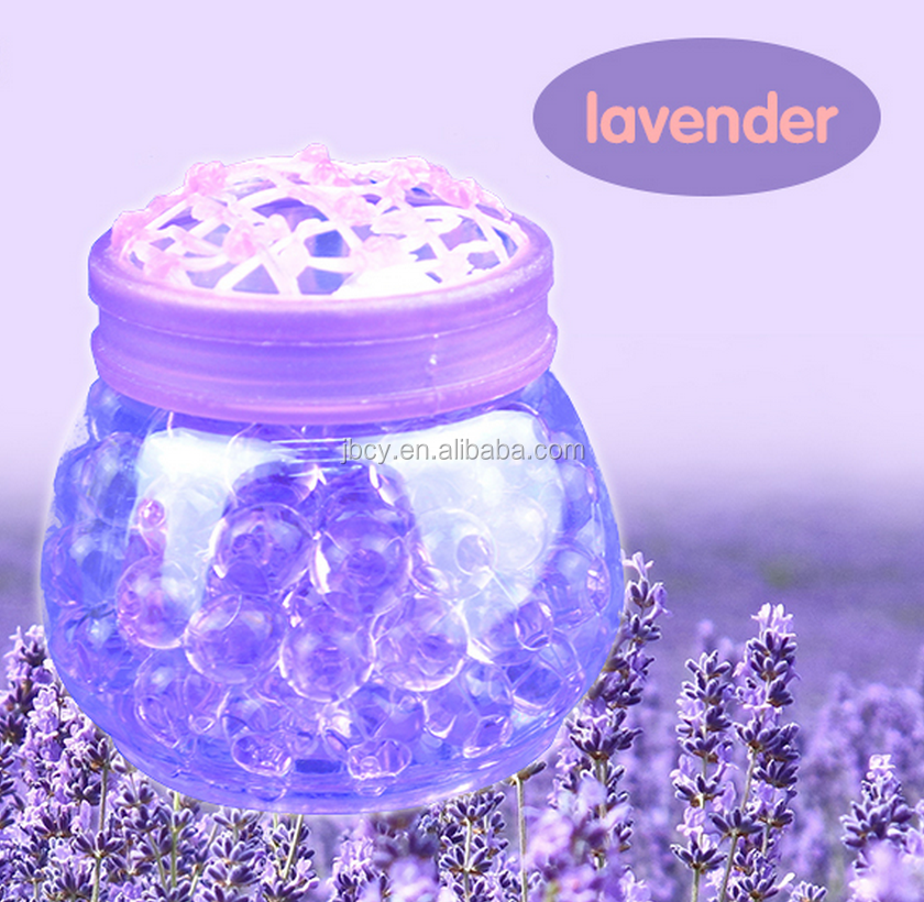 2016 ecofriendly Crystal GEL Beads Air Freshener with lavender scents and purple colors