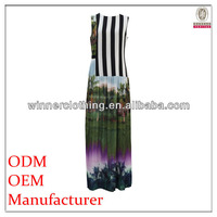hot summer new style fancy printing pakistani maxi dress