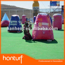 Paintball colorful synthetic carpet grass