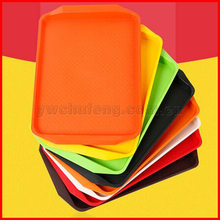 wholesale thickening PP fast food tray Rectangular snack plate restaurant tableware non-slip cafeteria tray