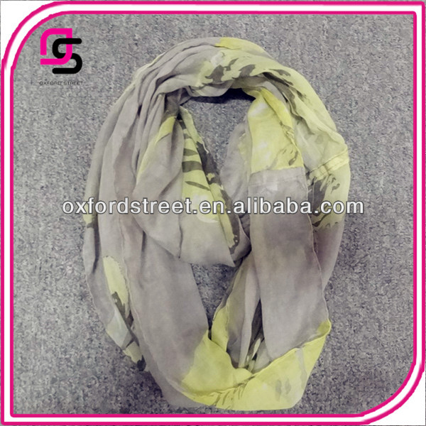 2014 HOT spring floral printed round neck scarf,infinity print scarf