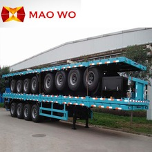 MAOWO tri-axle 20ft 40ft trailer truck 40 ton and flat bed tow trucks