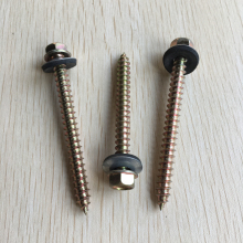galvanized self tapping screw with rubber washer manufacturer