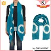 Top quality fashion style teal-white print stole