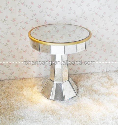 mirrored pedestal Coffee table