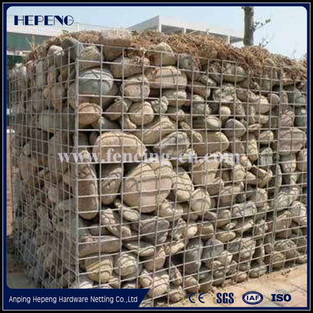 Hot Sale Galvanized Welded Gabion Box / Stone Cage welding the stone cage nets / hexagonal wire mesh from China Factory