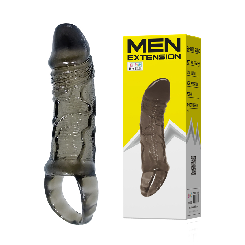 extended long soft penis sleeve for <strong>men</strong>