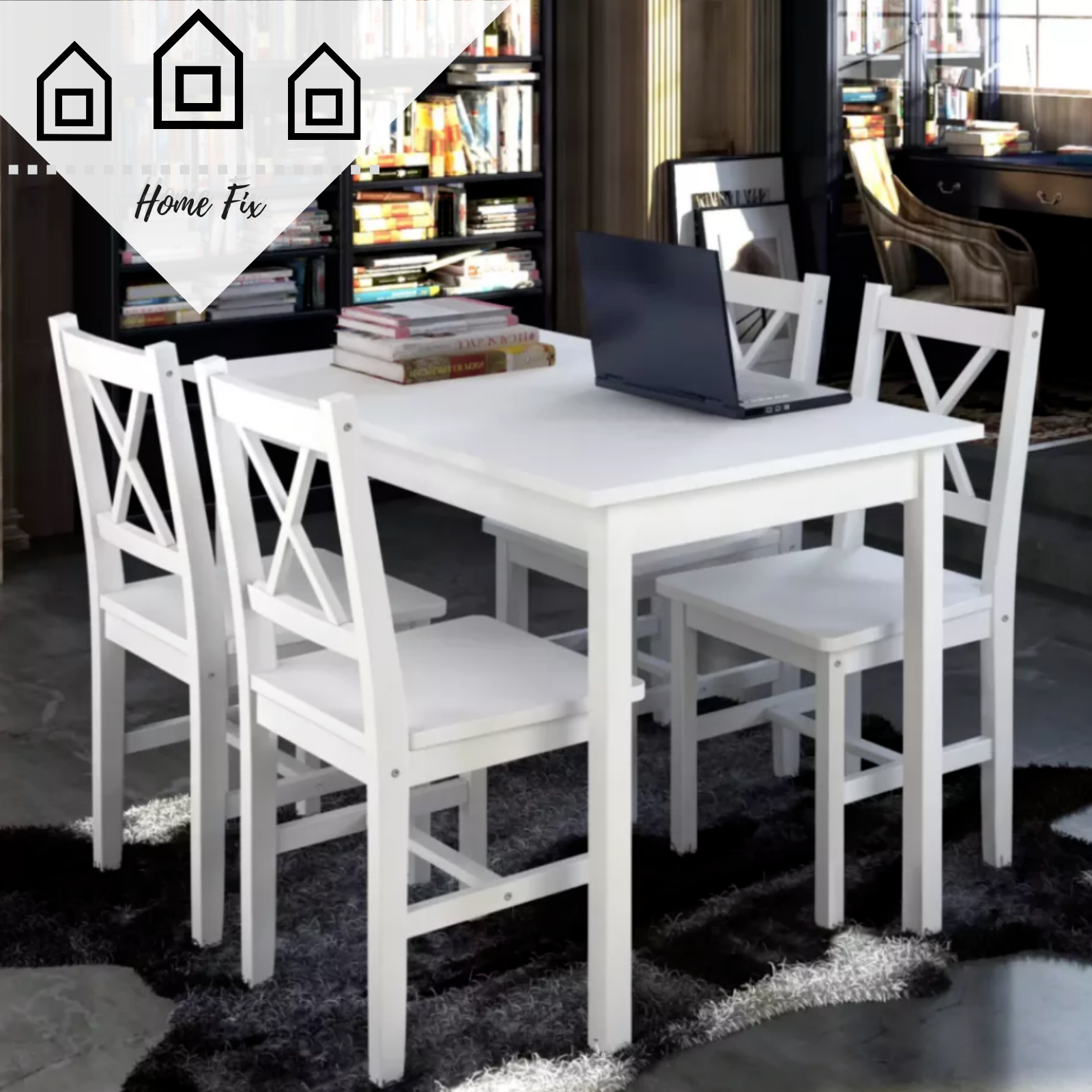 Pine Wood Dining Set Solid Table Chairs Dining Tables Home Furniture