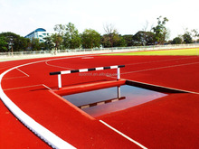 Manufacturer of IAAF Approved 400 Meter Standard Prefabricated Vulcanized Synthetic Rubber Athletic Running Track Material