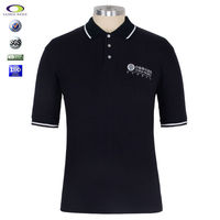 Shenzhen China manufacturer single jersey cotton Black SILK PRINTING polo t shirt