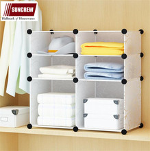 Home storage and closet organizer DIY modular plastic storage box