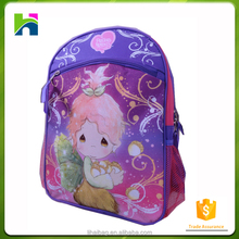 2017 most popular kids cartoon picture of school bag child backpack for girls