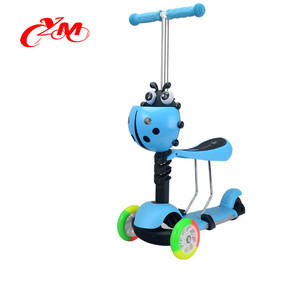 2017 best quality wholesale 3 in1 kids scooter , 6 years old scooter for kids , 3 wheel kids scooter