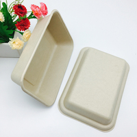 Natural wheat straw virgin pulp food container box with paper lid