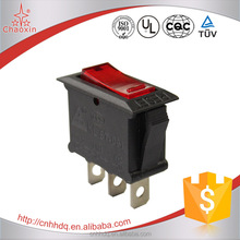 Illuminated SPST Boat Rocker Switch 125v 16a 250v