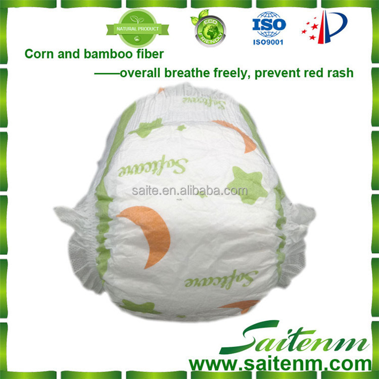 Saite natural healthy baby diaper for baby for european market